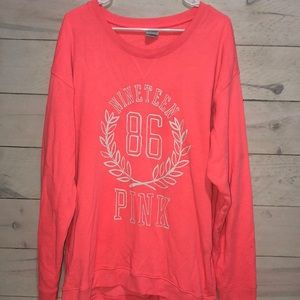 Women's Sz L PINK Victoria's Secret Pull Over